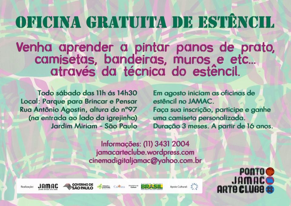 JAMAC - Jardim Miriam Arte Clube - Oficina de Estêncil
