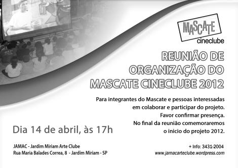 Reunião de Organização do Mascate Cineclube 2012