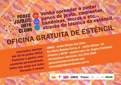 JAMAC - Jardim Miriam Arte Clube - Oficina de Estencil 2012