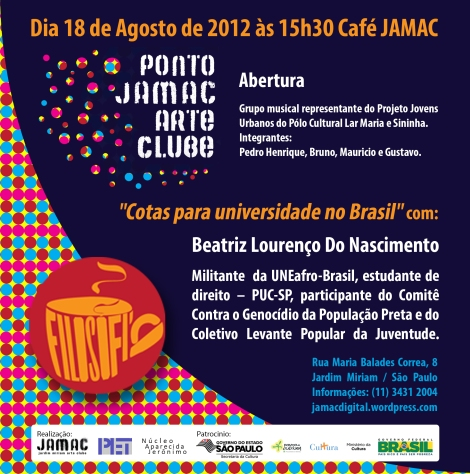 18/08/12 - Café JAMAC com Beatriz Lourenço do Nascimento