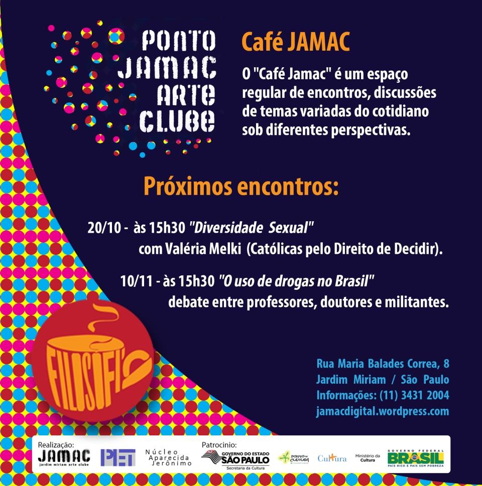 """20/10/12 - Café JAMAC - """"Diversidade Sexual"""" com Valéria Melki (Católicas pelo Direito de Decidir)"""
