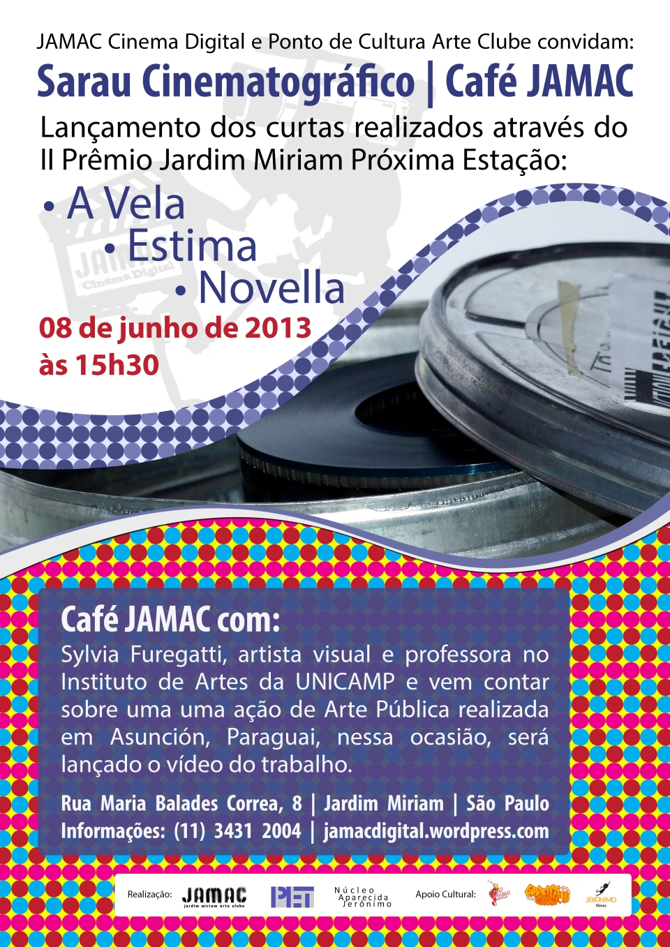 Sarau Cinematográfico + Café JAMAC